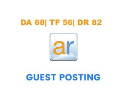 Publish a guest post on Active Rain  -  DA68, TF56, DR82