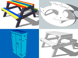 Create a simple 3D product illustration in SketchUp