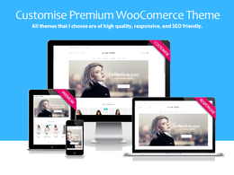 Customise Premium WooCommerce Theme  / Set up your website