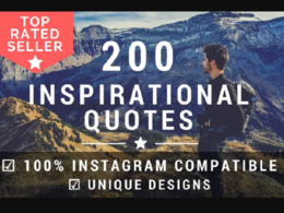 Design 200 Inspirational Quotes For Instagram