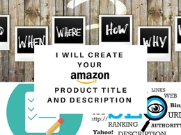 Write one Amazon product description and title