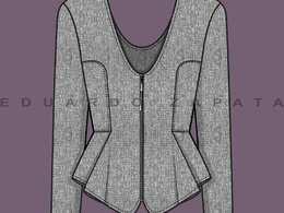 Create 2 fashion technical sketches