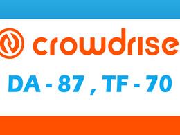 "Write And Publish A Guest Post On ""Crowdrise"" DA-87"