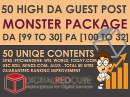 50 High Quality Guest Post DA [99 to 30] - Monster Package