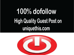 Write and publish dofolow guest post on uniquethis.com