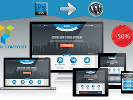 Convert any psd to WordPress - Responsive by Visual Composer