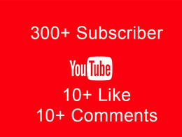 300+ Real YouTube subscribes for your youtube
