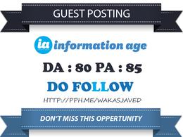 Publish Guest Post on Information-age.com DA 80 Dofollow