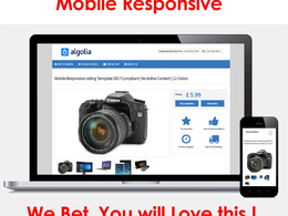 Design responsive professional eBay listing auction template