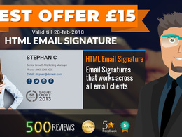 Design and code your HTML email signature in 2 hours for £15