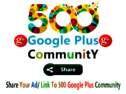 Share Your Link To 500 Google Plus Niche Related Communities