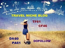 Guest post on Travel niche PR6  DA60 TF61 Dofollow Blog