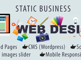 Responsive WordPress Business Website design Unlimited Pages
