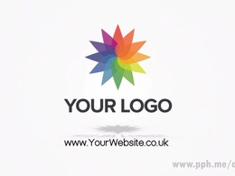 Make a clean corporate logo reveal video / logo sting as shown