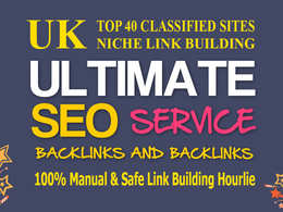 Get 40 DOFOLLOW niche backlinks from top 40 UK Classified sites