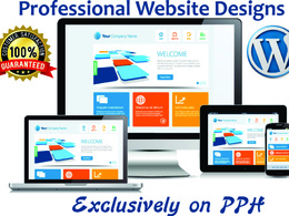 Design a responsive professional Wordpress website