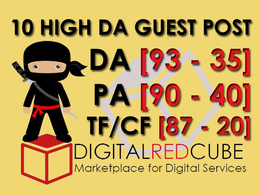 Write and Publish 10 X High Authority Guest Post DA[95-35]
