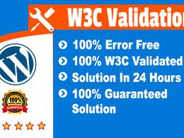 Fix W3c Validation Errors