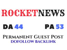 Provide guest post on RocketNews.com