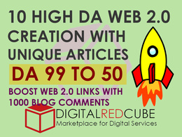Manual High DA 10 web 2.0 with Unique Articles DA[99-50]