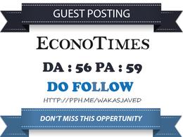 Guest Post on Econotimes - Econotimes.com -DA 60 Dofollow