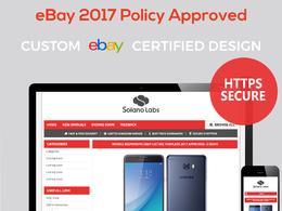 Design responsive professional eBay listing auction template