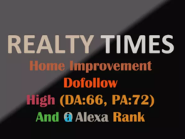 Guest Post On  Realtytimes.com - Realtytimes DA 72 Dofollow Link