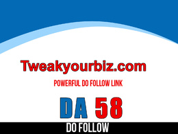 Publish guest post on tweakyourbiz – tweakyourbiz.com – DA 58