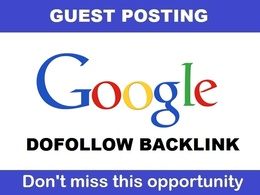 Write & publish DOFOLLOW Guest post on google.com , DA100 , PA97