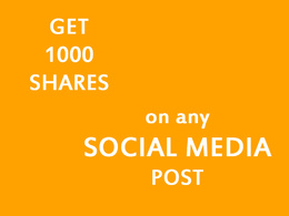 Give you 1000 shares on any social media post