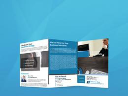 Design professional Bi fold Tri fold Brochure, Magazines