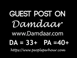 Publish Guest post with 2 dofollow seo backlinks on Damdaar.com