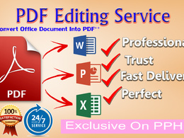Expertly 20 page PDF editing within 2 hours.