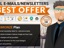Design a  HTML newsletter or Email template - BRONZE