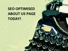Write your 500 word SEO Optimised About Us Page