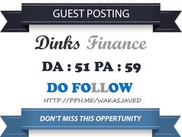 Guest Post on DinksFinance - DinksFinance.com DA 51 Dofollow