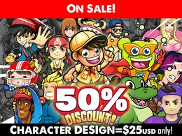 Design your Awesome Character / Mascot / Avatar in VECTOR