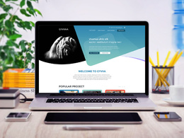 Design your fantastic PSD website homepage/landing page