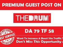 Publish Guest post on Thedrum. Com with High Authority BackLink