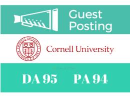 Publish Guest/Blog Post Cornell University - Cornell.edu DA 95