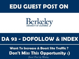 Edu Guest Post on Berkeley.edu - University of California - DA93