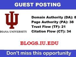 Write & publish a guest post on blogs.iu.edu - DA81
