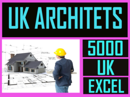 Give you 5000 uk architects contact list