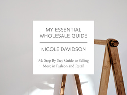 Give my Essential Guide to Wholesale - from a UK fashion buyer
