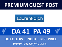 Publish Guest Post on LaurenRalph, laurenralph.co.uk - Do follow