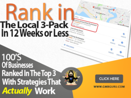 Push your Google My Business page to the top of the 3 Pack