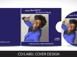 Do unique DVD/CD design with front label cover