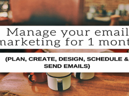 Manage Your Email Marketing For One Month
