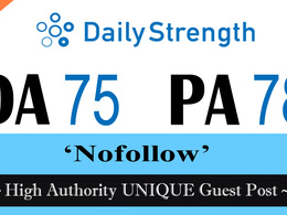 """Write and publish UNIQUE Guest Post on """"Dailystrength"""" DA-75"""