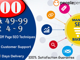 Provide 100 High Quality WhiteHat Manual SEO Link Building